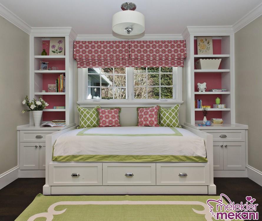 Uygun yatak odası mobilyaları ile kızınızı mutlu edecek dekoratiflikler yakalayabilirsiniz.