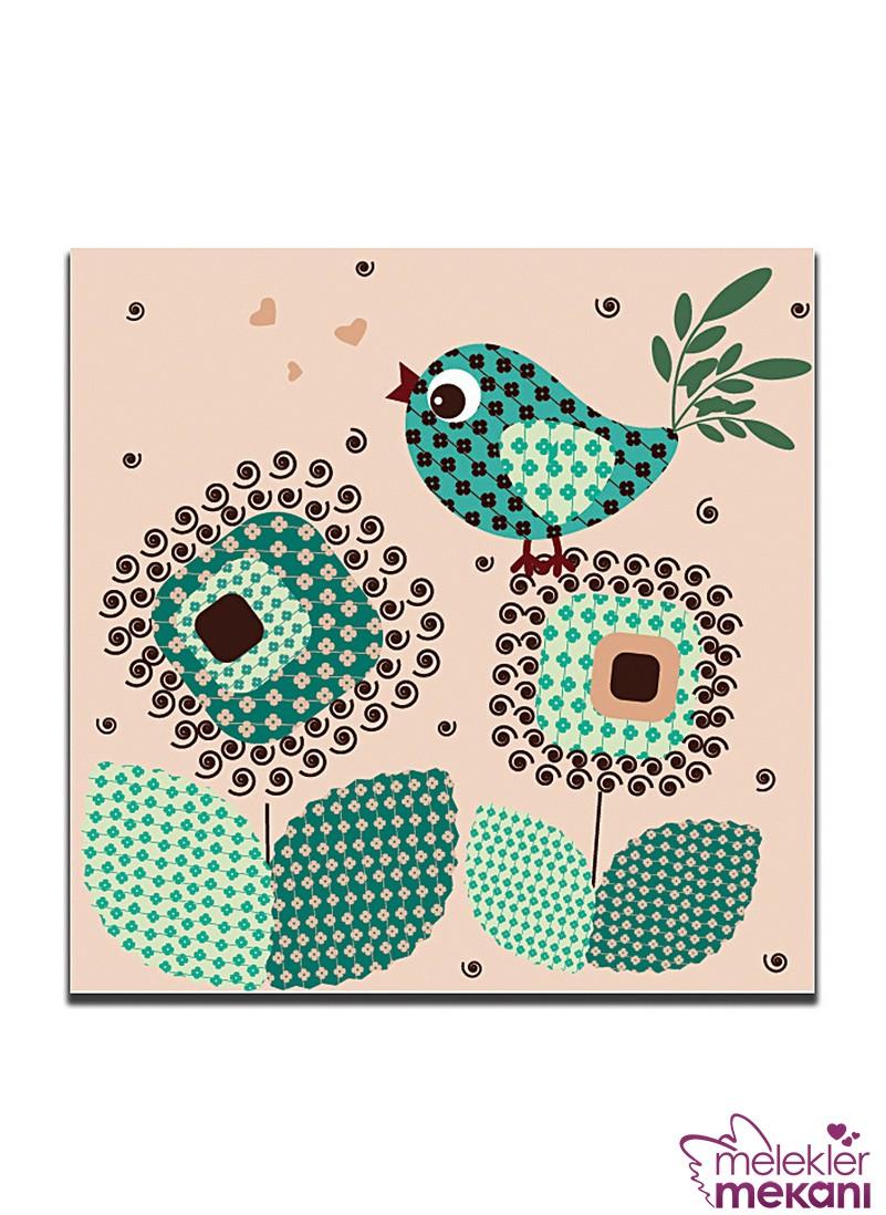 Dolce Home kuş figürlü pano tercihi ile salonlarınızı dekoratifleştirebilirsiniz.