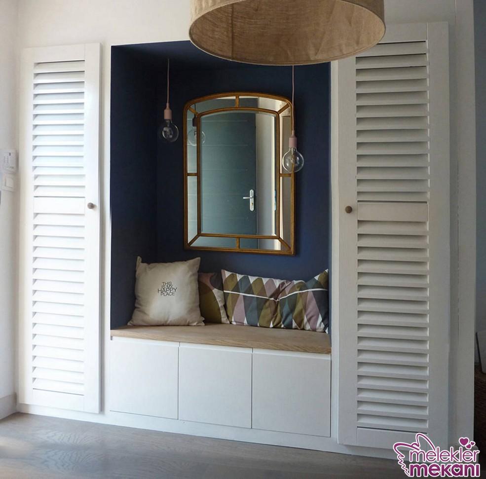 Dar antre dekorlarınızda dekoratif ayna fikirlerinden yararlanabilirsiniz.
