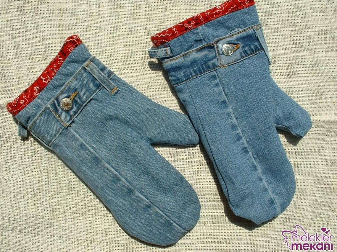 Eski kotlarınızı mutfağınızda kullanacağınız eldiven tasarımlarını gerçekleştirebilirsiniz.