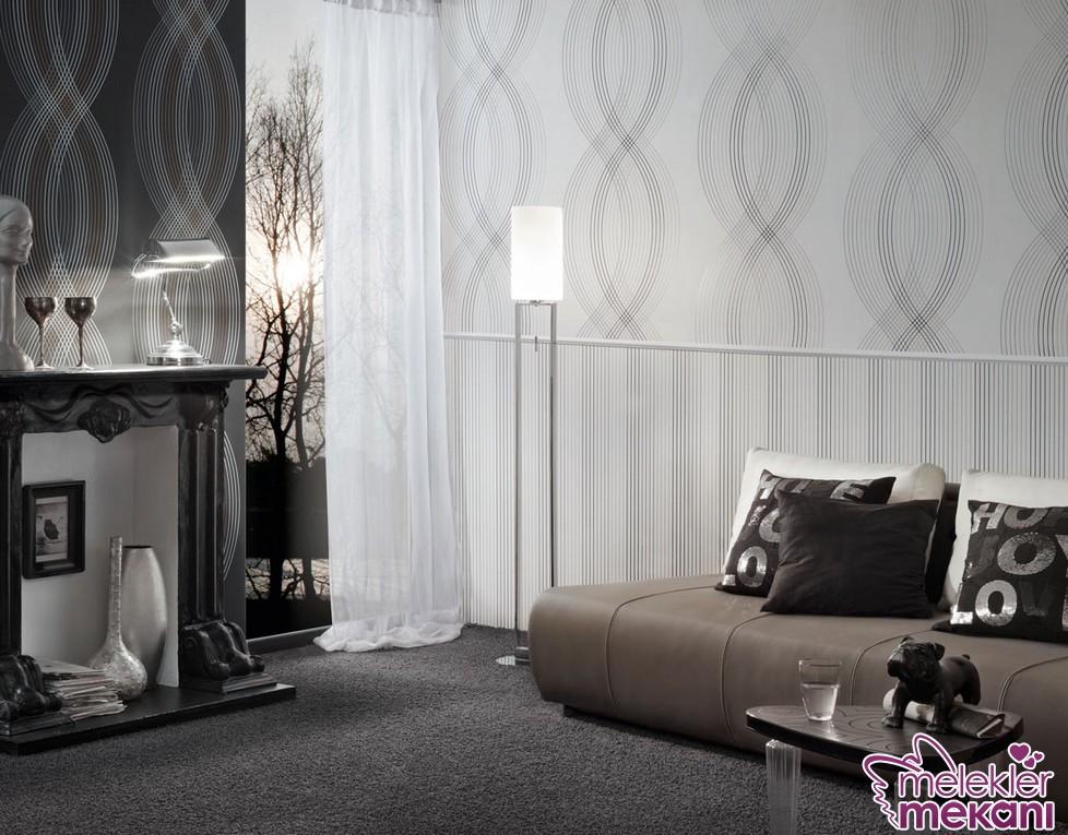 Modern salon duvar kağıdı seçiminde bulunarak özel görünümlü modern oda dekorasyonlarını kolaylıkla elde edebilirsiniz.