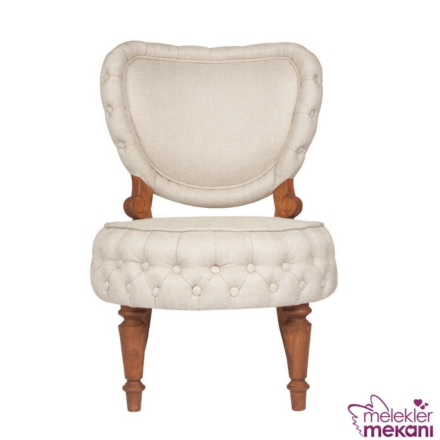 Carmel ekru tekli koltuk seçiminiz ile şık berjer koltuğu odalarınızda görmeye başlayabileceksiniz.