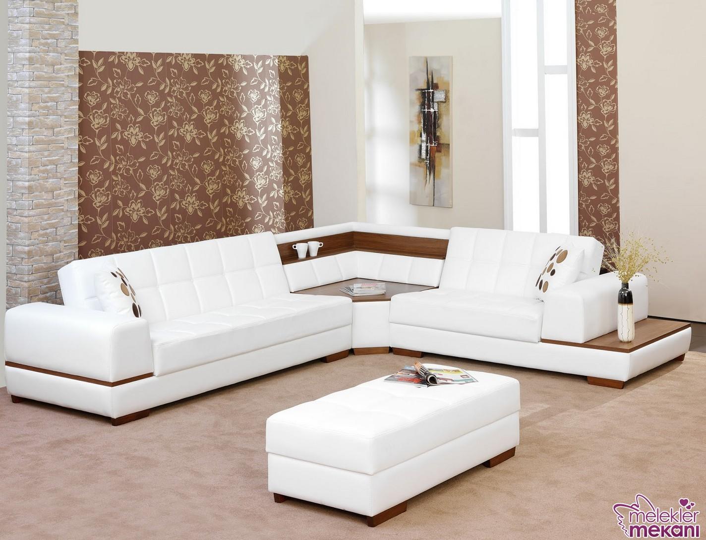 Aldora mobilya beyaz modern köşe takımı tercihi ile kaliteli görünümler dekorasyonlarınızı bütünleyebilecek.