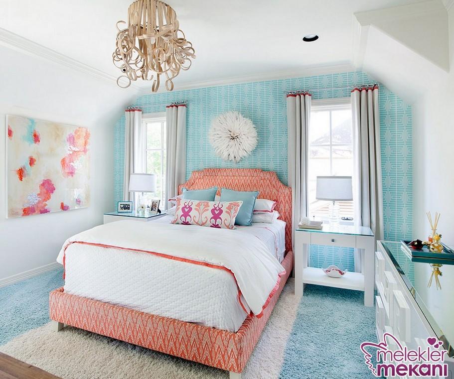 Yaz sezonu yatak odası dekorasyon renklerinden faydalanarak odalarda huzuru hissedebilme fırsatını yakalayabilirsiniz.