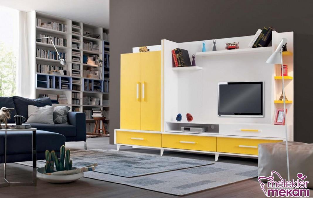 2017 şık yaşam tv ünitesi seçiminiz ile odalarınızda enerjik bir hava yakalamak mümkün.
