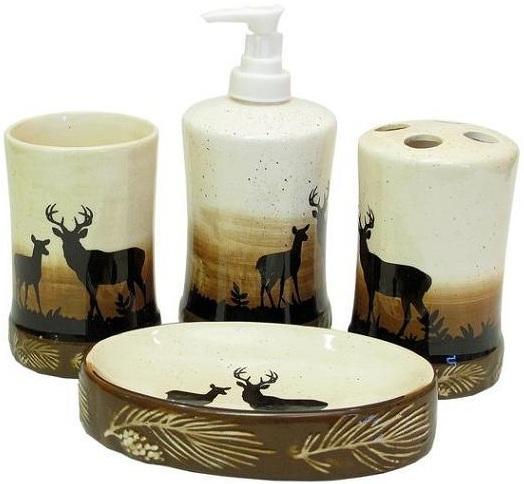 Geyik-desenli-kahverengi-beyaz-banyo-aksesuarları-modeli.jpg