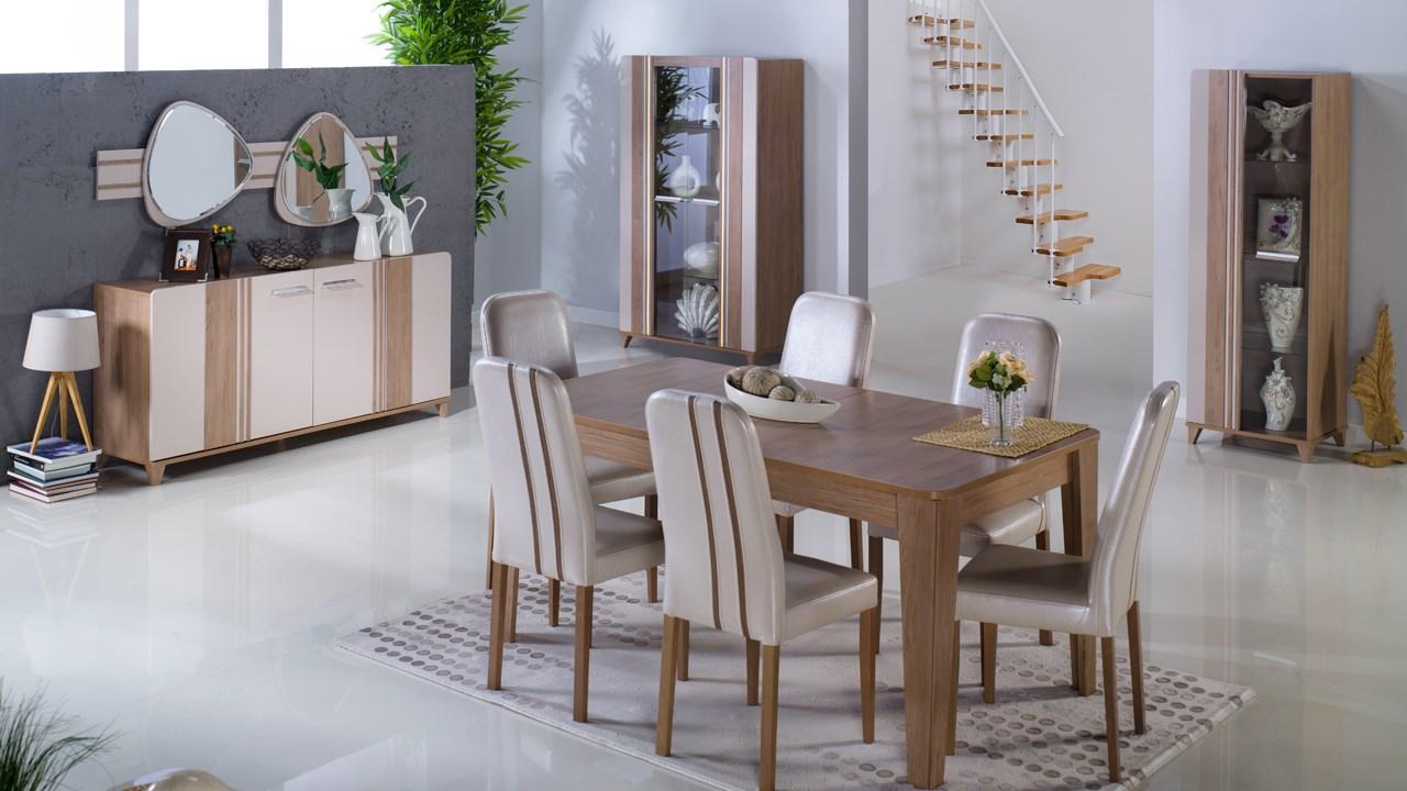 istikbal-mobilya-yemek-masasi-fiyatlari-jpg.70852 Yemek odası dekorasyonlarından son trend görünümler Melekler Mekanı Forum
