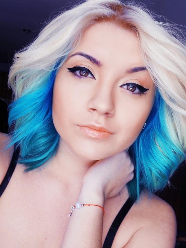 Mavi Balyajlı Saç Modelleri Melekler Mekanı