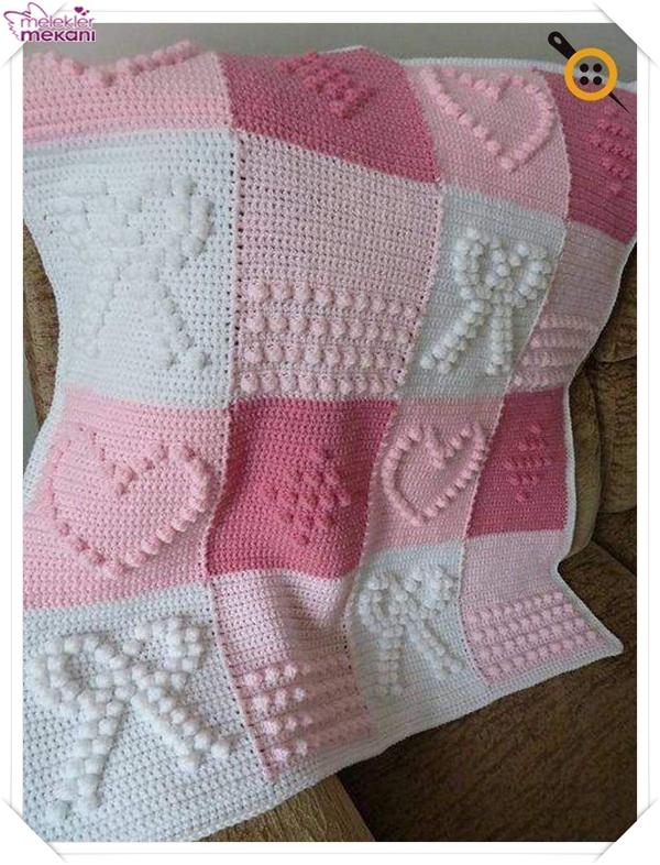 Pembe bebek battaniye modelleri.jpg