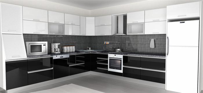 siyah-beyaz-mutfak-modelleri-2016-jpg.57640 2016 Siyah beyaz mutfak dekorasyonları ile gelen özgünlük Melekler Mekanı Forum