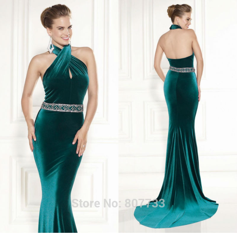 W085-Free-Shipping-gorgeous-halter-neck-mermaid-font-b-velvet-b-font-font-b-emerald-b.jpg