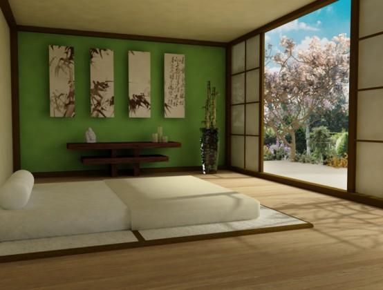 zen stili yatak odası.jpg