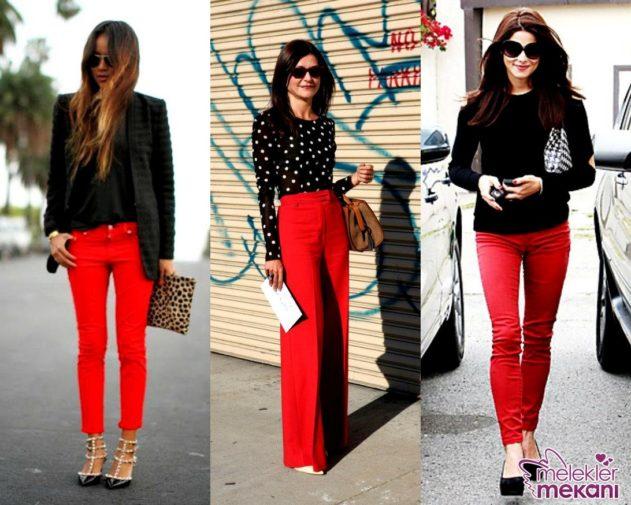 kırmızı renk kombinleri