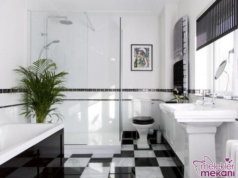 2016 yılında banyolarınızda siyah- beyaz uyumuna yer verebilirsiniz.