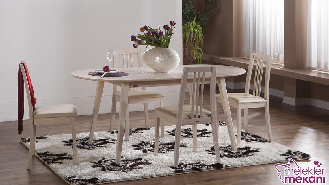 Ahşap sıcaklığını mutfaklarınızda yeni sezon mutfak masa ve sandalye takımları ile yaşatabilirsiniz.