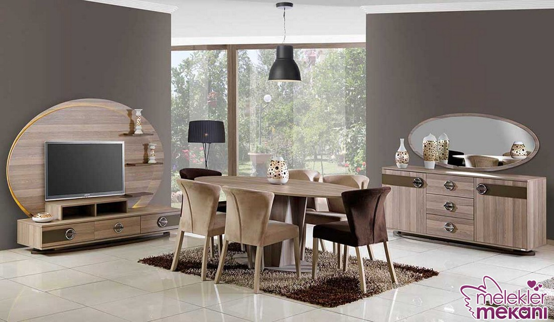Ahşap yemek odası takımları ile yeni sezonda sıcak yemek odası dekoratiflikleri yakalayabilirsiniz.