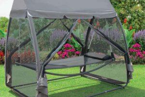 Cibinlikli hamak modelelri tercihi ile bahçelerinizde Bauhaus kalitesini hissetmeye başlayabilirsiniz.
