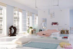 Dekoratif unsurlardan faydalanarak kız yatak odası dekorasyonlarını ilginç kılabilirsiniz.