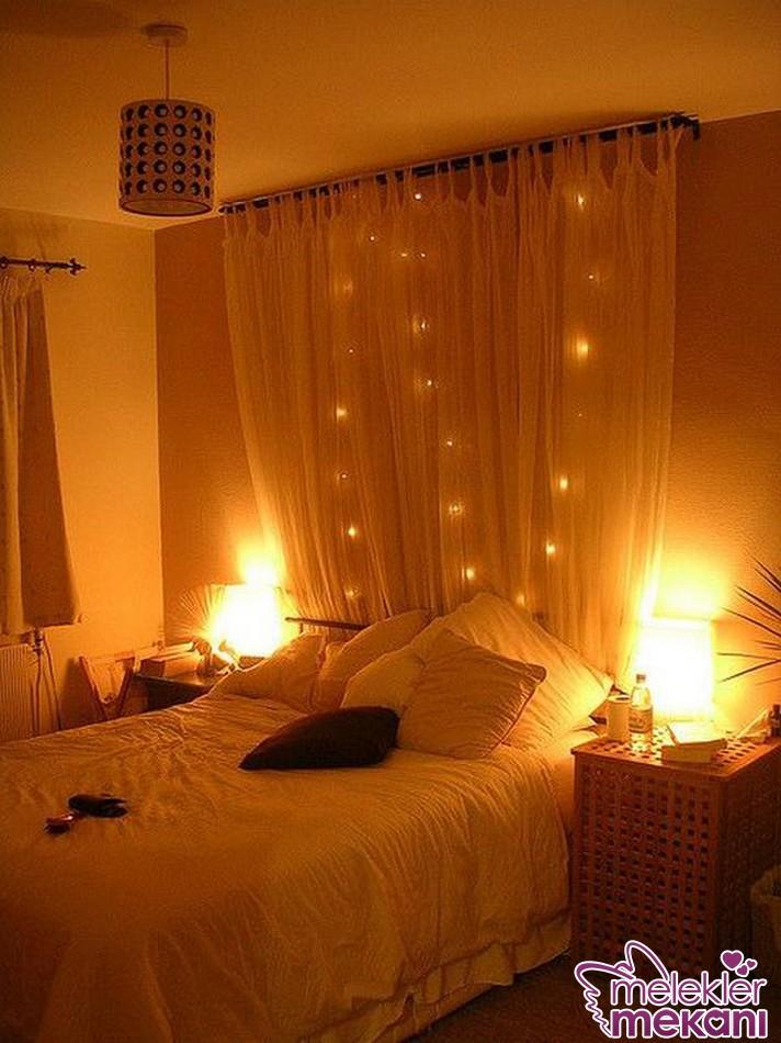 Loş romantik yatak odası dekorasyon örnekleri ile romantik dekorasyonlarınızı canlandırabilirsiniz.