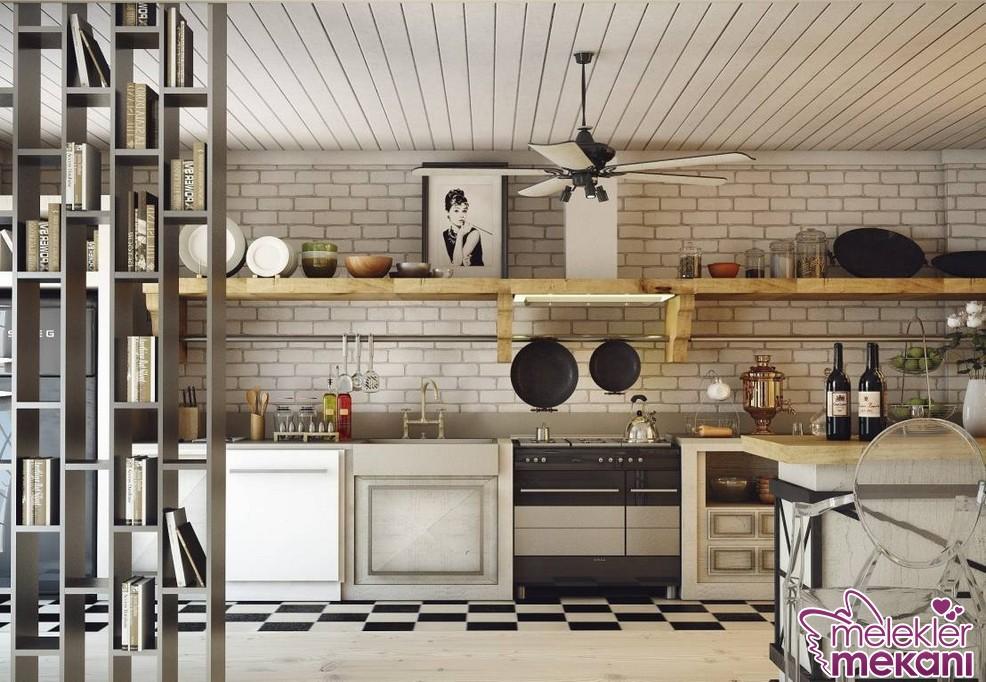 Mutfak dekorunda yeni sezonda tuğla duvar uygulamalarına yer verebilirsiniz.