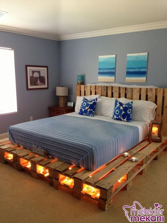 Paletten yatak odanızda yeni bir yatak oluşturabilirsiniz.