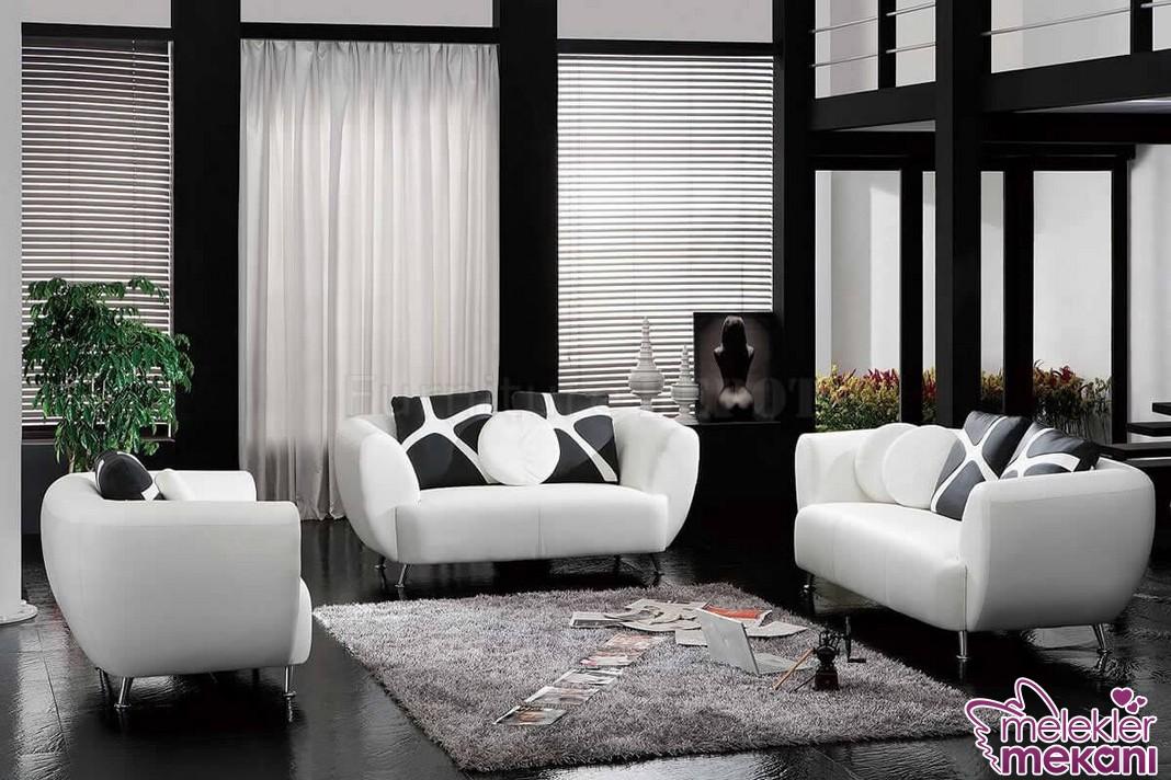 Siyah beyaz dekorasyon yaparken 2016 sezonunda salonlarınızda etkili bir görünüm yakalayabilirsiniz.
