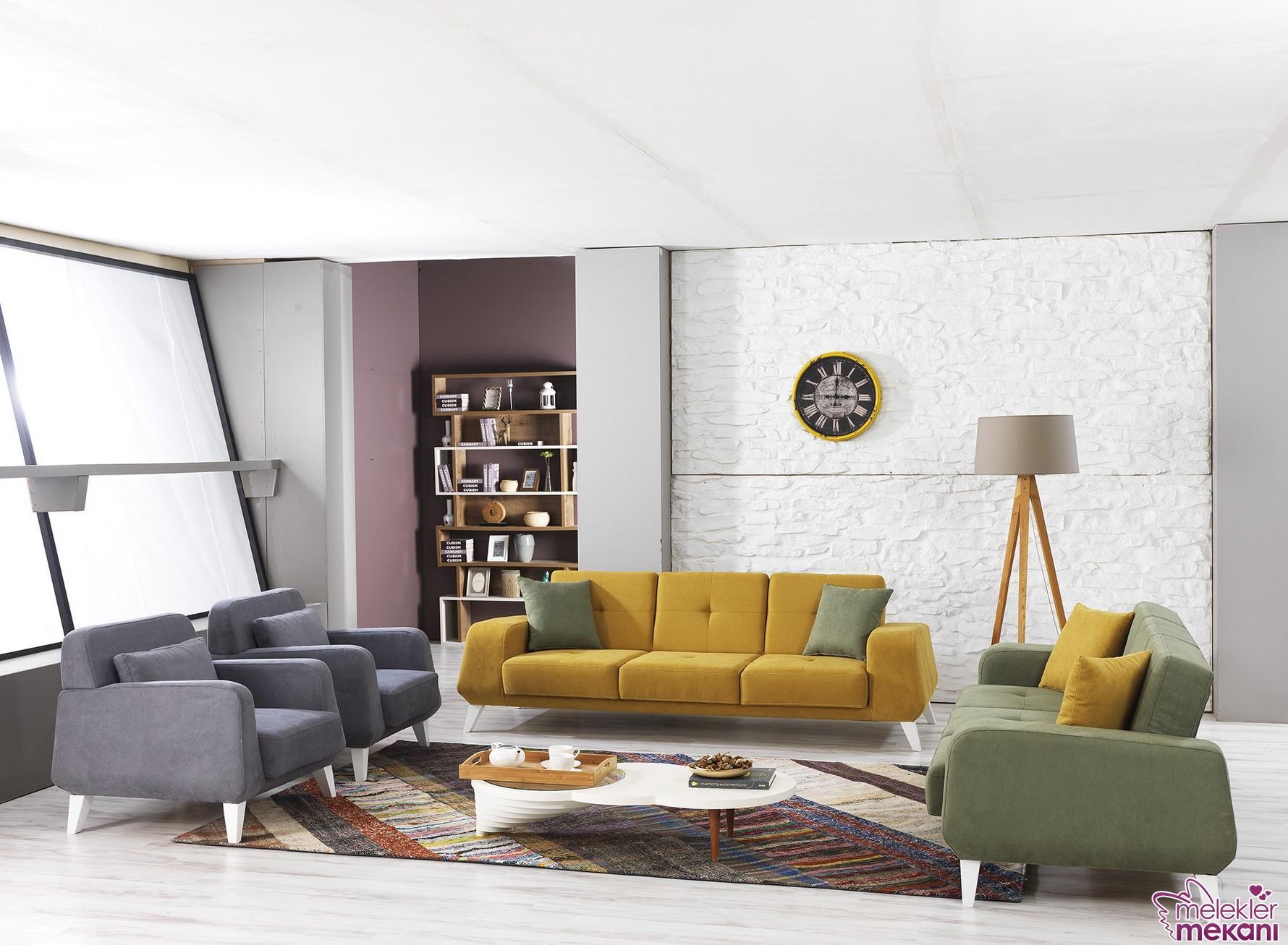 Vettore bera koltuk takımı tercihinde bulunarak oda dekoratifliğine estetik anlam yükleyebilirsiniz.