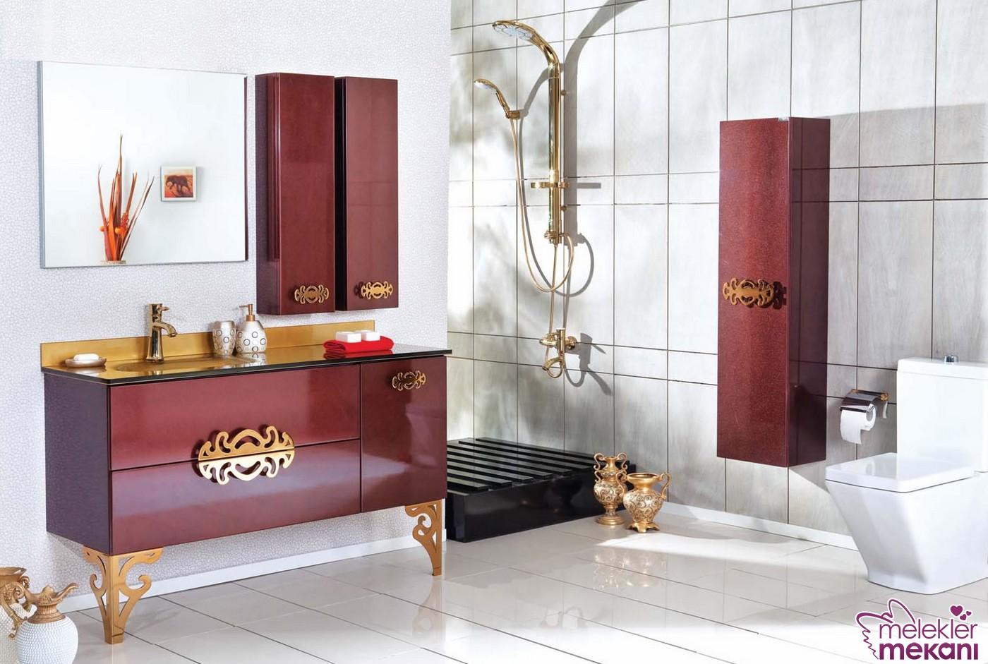 2016 sezonu avangarde banyo dolap modelleri arasında yer alan bordo renk koleksiyonundan faydalanabilirsiniz.