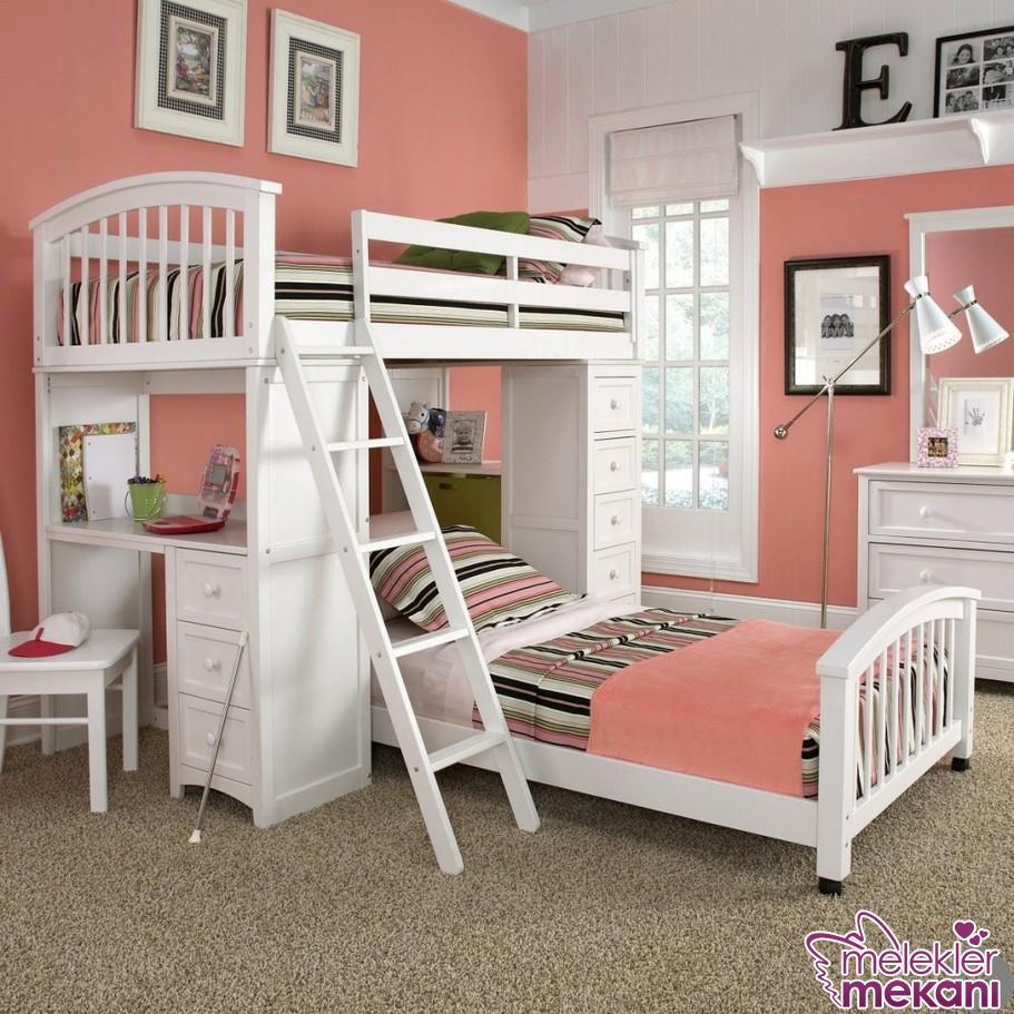 Merdivenli ranza modelleri iki çocuklular için ideal.