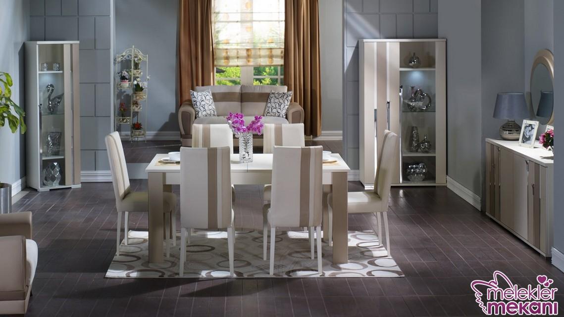 2017 İstikbal yemek odası seçimi ile yemek odalarınızda estetik görünümler yakalamak mümkün.