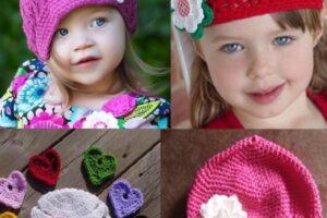 çiçek ve kalp motifi süslemeli çok şirin bebek bereleri