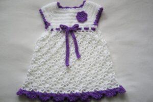derya baykal tığ işi yazlık bebek elbise örneği