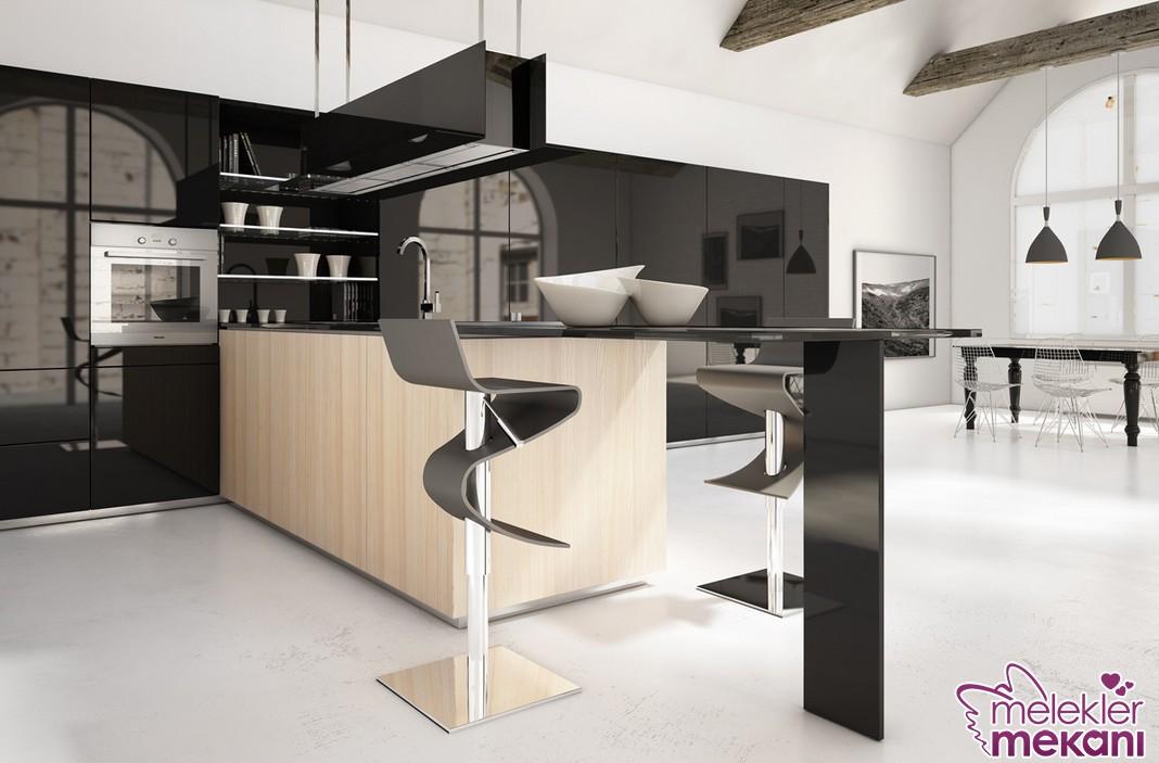 Sıra dışı mutfak tasarımlarından faydalanarak mutfak dekorasyonlarınıza anlamlı bir dokunuşta bulunabilirsiniz.