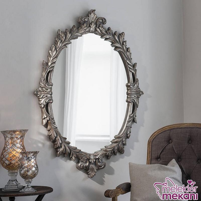 Yeni sezonda gümüş çerçeveli dekoratif ayna seçiminde bulunarak odalarınızda estetik görünüm elde edebilirsiniz.