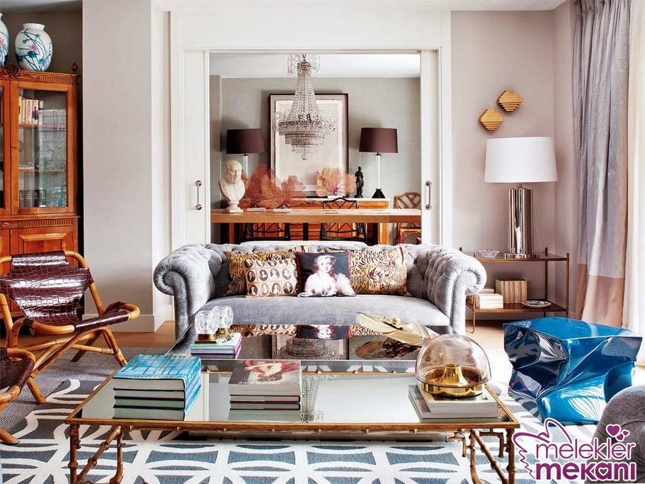 Ev dekorasyonu değişiminizde odalarınızda yer yer leopar desenine yer verebilirsiniz.