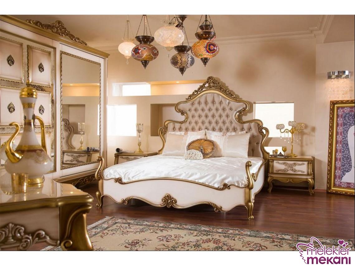 Hanedan avangarde yatak odası takımı ile şıklık yatak odanızdan eksik olmayacak.